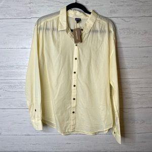 Patagonia NWT hemp cotton button up shirt